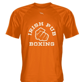 Irish Pub Boxing T Shirt Orange