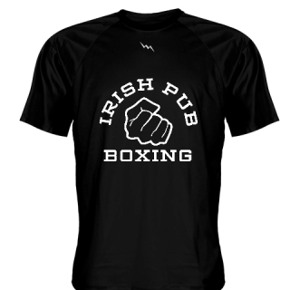 Irish Pub Boxing T Shirt Black