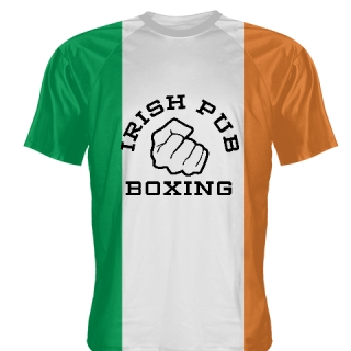 Irish Pub Boxing T Shirt Irish Flag
