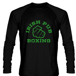 Irish Pub Boxing Long Sleeve Shirt Black
