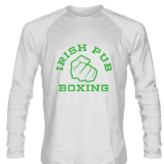 Irish Pub Boxing Long Sleeve Shirt White