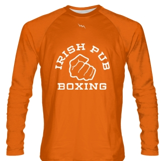 Irish Pub Boxing Long Sleeve Shirt Orange