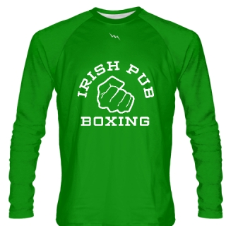 Irish Pub Boxing Long Sleeve Shirt Green