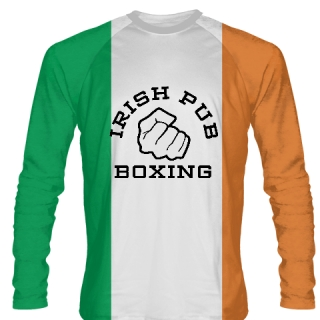 Irish Pub Boxing Long Sleeve Shirt Irish Flag