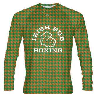 Irish Pub Boxing Long Sleeve Shirt Houndstooth
