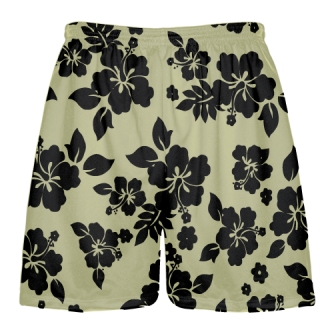 Vegas Gold Black Hawaiian Shorts Accent