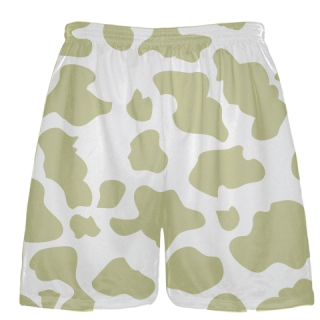 White Vegas Gold Cow Print Shorts