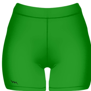 Kelley Green Spandex Shorts - Girls Womens Spandex