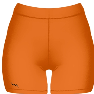 Orange Spandex Shorts - Girls Womens Spandex