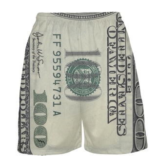 Money Basketball Shorts - Mens Hundred Dollar Bill Shorts