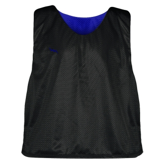 Lacrosse Pinnie Black Royal Blue - Youth Adult Mesh Reversible Jerseys