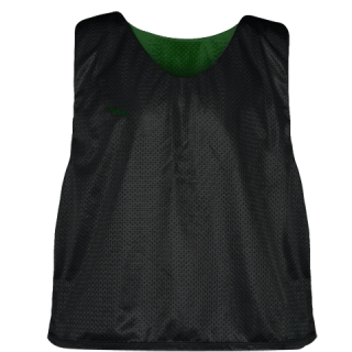 Lacrosse Pinnie Black Forest Green - Youth Adult Mesh Reversible Jerseys