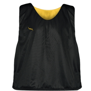Lacrosse Pinnie Black Gold - Youth Adult Mesh Reversible Jerseys
