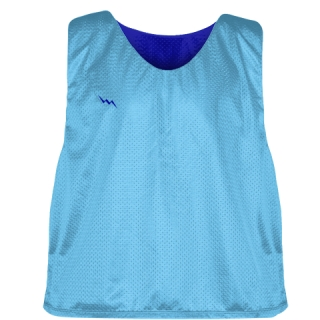 Pinnies - Lacrosse Pinnie Powder Blue Royal Blue - Youth Adult Mesh Jerseys