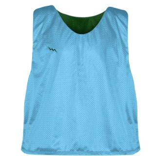 Pinnies - Lacrosse Pinnie Powder Forest Green - Youth Adult Mesh Jerseys