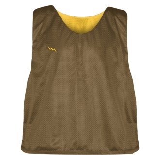 Lax Pinnie Brown Athletic Gold - Mens Boys Lacrosse Practice Jerseys
