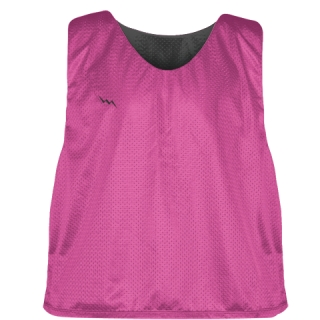 Hot Pink Charcoal Gray Lacrosse Pinnies - Lax Pinnies