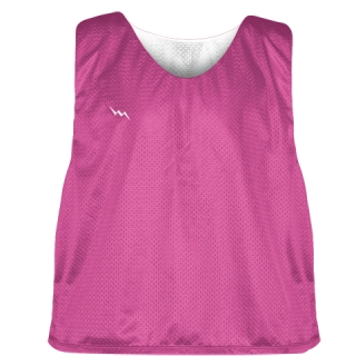 Hot Pink White Lacrosse Pinnies - Lax Pinnies