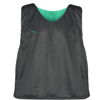 Charcoal Gray Teal Lacrosse Pinnies - Lax Pinnies
