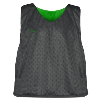 Charcoal Gray Kelly Green Lacrosse Pinnies - Lax Pinnies