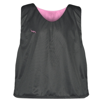Charcoal Gray Pink Lacrosse Pinnies - Lax Pinnies