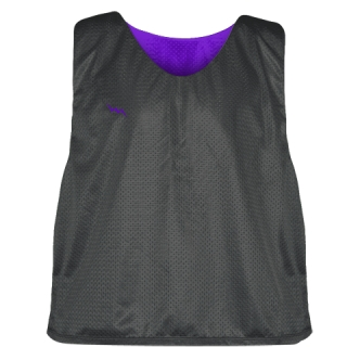 Charcoal Gray Purple Lacrosse Pinnies - Lax Pinnies