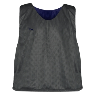 Charcoal Gray Navy Blue Lacrosse Pinnies - Lax Pinnies