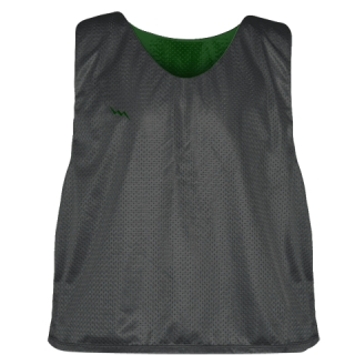 Charcoal Gray Forest Green Reversible Lacrosse Pinnies - Lax Pinnies