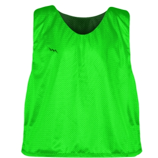 Neon Green Forest Green Reversible Lacrosse Pinnies - Lax Pinnies