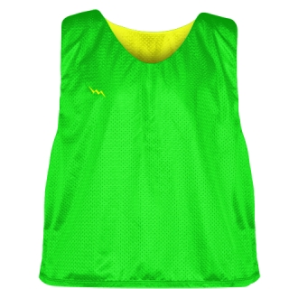 Neon Green Yellow Reversible Lacrosse Pinnies - Lax Pinnies