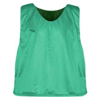 Teal Forest Green Reversible Pinnies - Reversible Lacrosse Jerseys