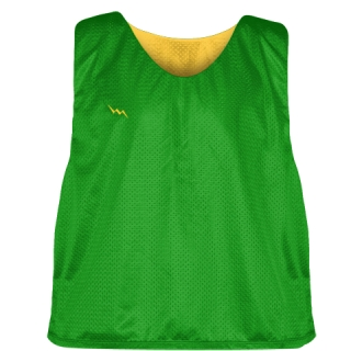 Kelly Green Athletic Gold Reversible Pinnies - Reversible Lacrosse Jerseys