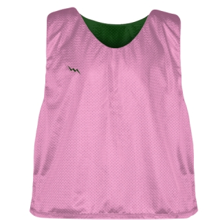 Pink Forest Green Reversible Pinnies - Reversible Lacrosse Jerseys