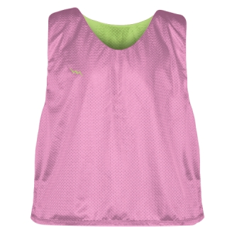 Pink Lime Green Reversible Pinnies - Reversible Lacrosse Jerseys