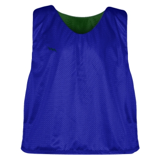 Royal Blue Forest Green Mesh Lacrosse Pinnies - Reversible Mesh Jersey