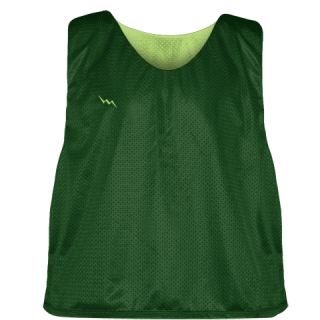 Forest Green Lime Green Mesh Lacrosse Pinnies - Reversible Mesh Jersey