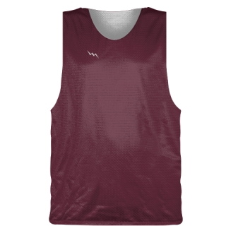 Maroon Basketball Pinnie - Basketball Practice Jersey