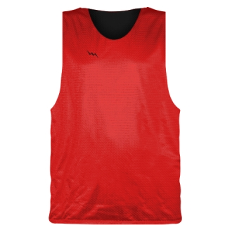 Red Black Basketball Pinnie - Basketball Practice Jerseys