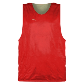 Red Vegas Gold Basketball Pinnie - Basketball Practice Jerseys