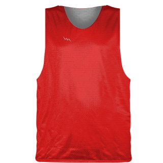 Red Silver Basketball Pinnie - Basketball Practice Jerseys