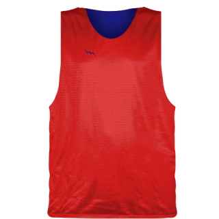 Red Royal Blue Basketball Pinnies - Basketball Practice Jerseys