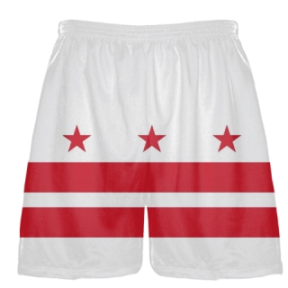 DC Flag Shorts Washington DC Athletic Lacrosse Shorts