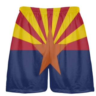 Arizona Flag Shorts - Sublimated Lacrosse Short