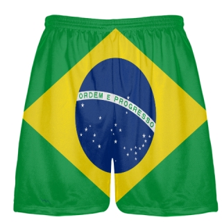 Brazil Flag Shorts - Custom Workout Shorts