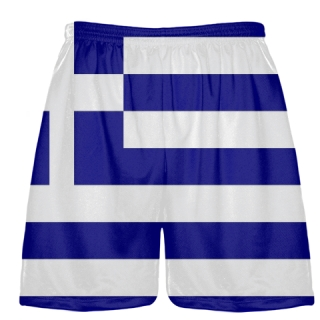 Greek Flag Shorts - Sublimated Lacrosse Shorts
