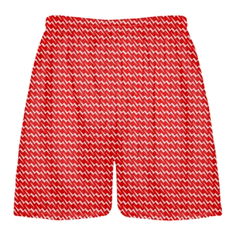 Lacrosse Shorts  - Red Lightning Bolt Shorts