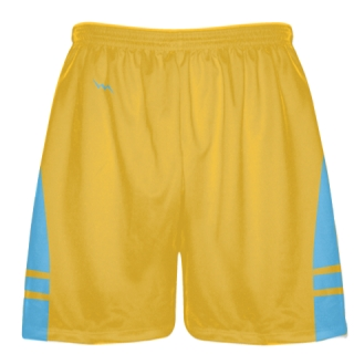 Athletic Gold Light Blue Boys Mens Lacrosse Shorts