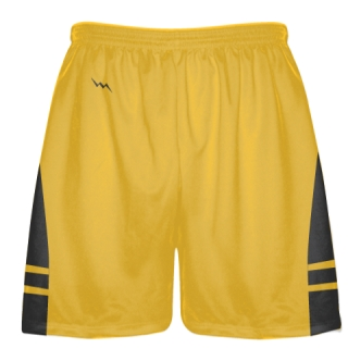 Athletic Gold Dark Gray Boys Mens Lacrosse Shorts