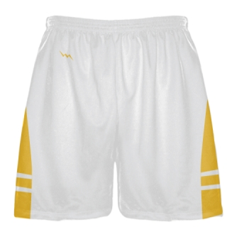 White Athletic Gold Boys Mens Lacrosse Shorts