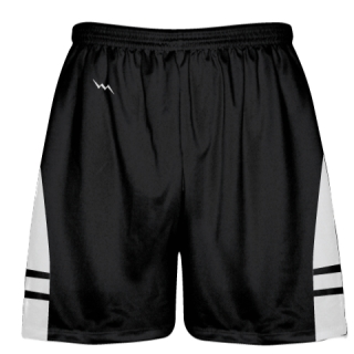 Black White Youth Adult Lacrosse Shorts